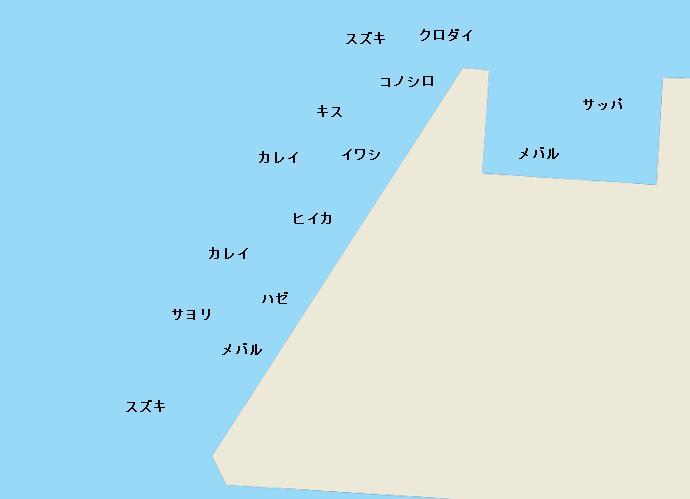 千葉港中央埠頭ポイント図