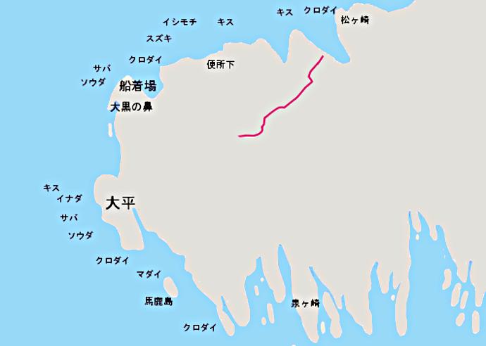 江ノ島裏磯ポイント図