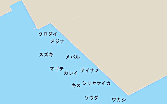 東扇島ポイント図