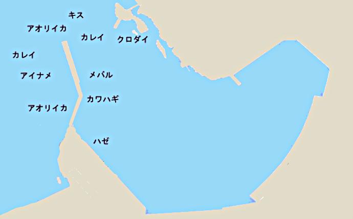 長井港ポイント図