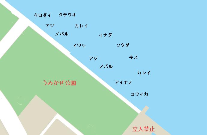 うみかぜ公園ポイント図
