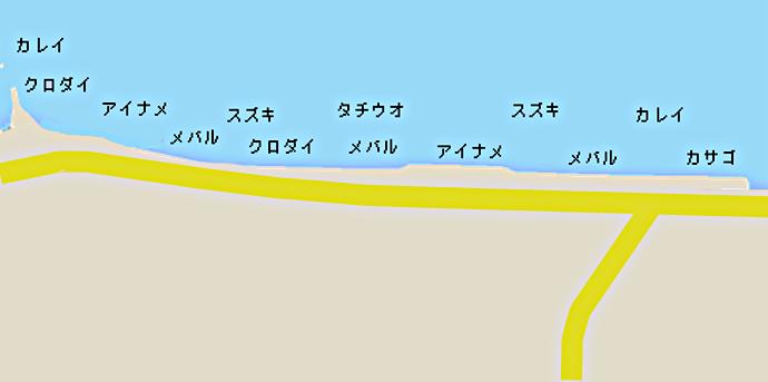 馬掘海岸ポイント図