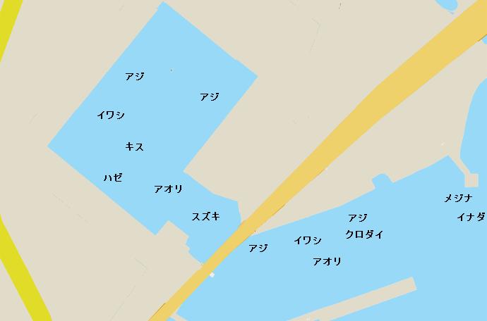 早川港ポイント図