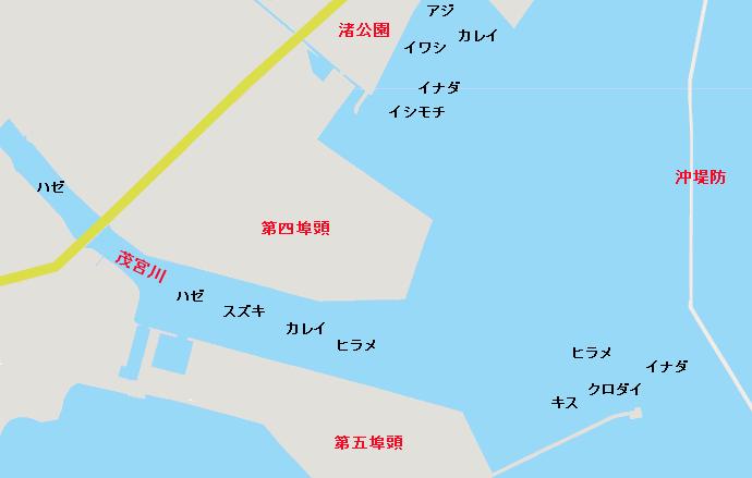 日立港ポイント図