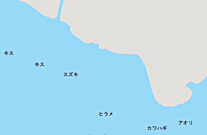 稲村ヶ崎ポイント図