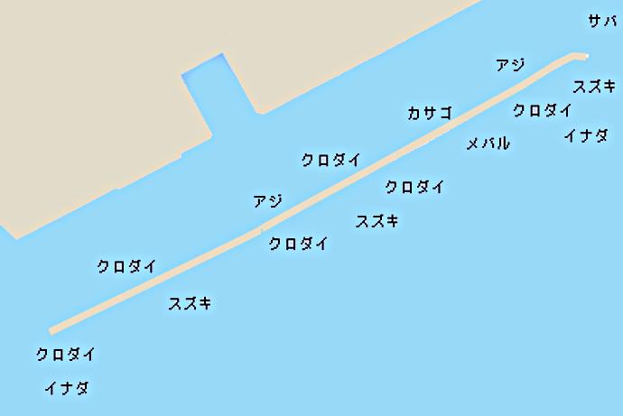 川崎新堤ポイント図
