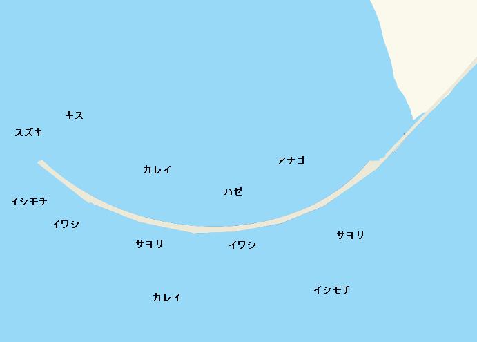 検見川突堤ポイント図