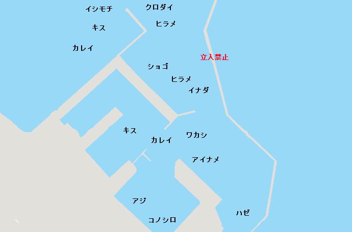 波崎新港ポイント図