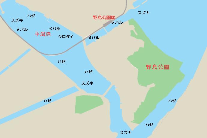 野島公園周辺のポイント