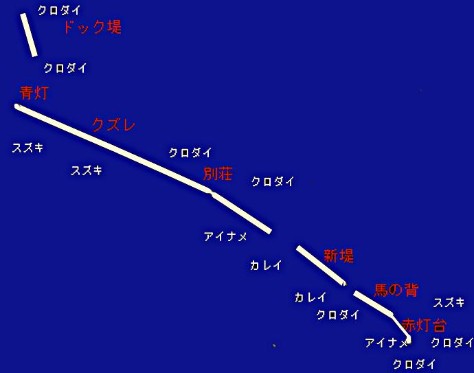 野島沖堤防ポイント図