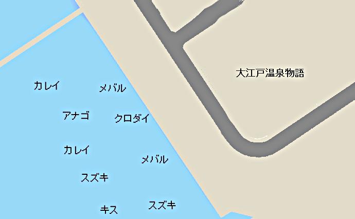 青海埠頭公園ポイント図