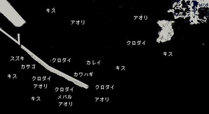 佐島沖堤ポイント図