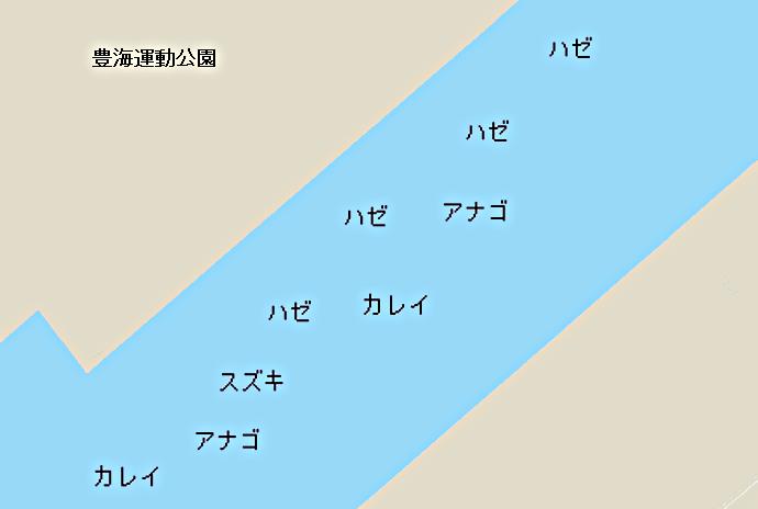 豊海運動公園ポイント図