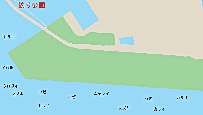 若洲海浜公園ポイント図