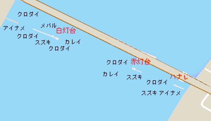 横浜沖堤ポイント図