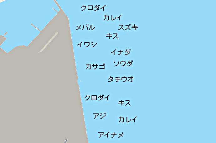 海辺つり公園ポイント図