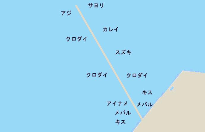 五井沖堤ポイント図