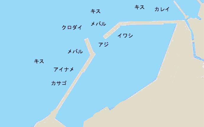 萩生港ポイント図