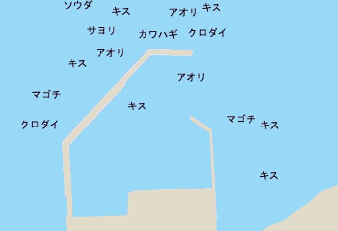 浜田堤防ポイント図