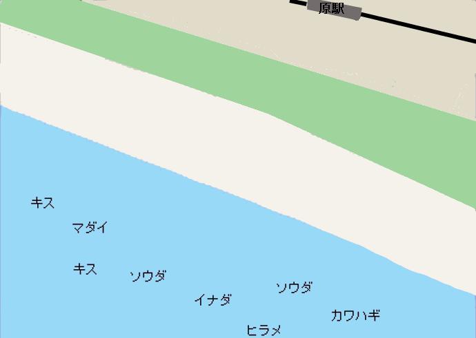原海岸ポイント図