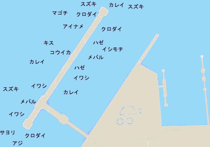 市原海釣り公園ポイント図