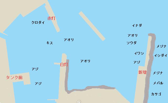 稲取港ポイント図