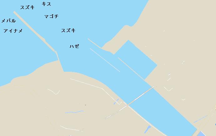 湊川河口ポイント図