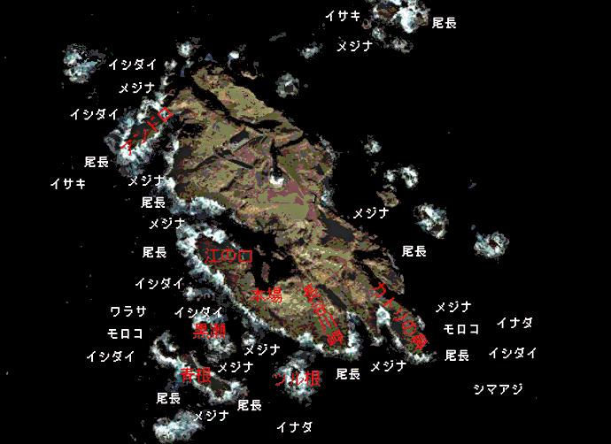 神子元島ポイント図