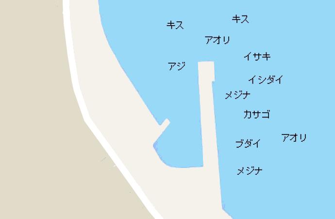 外川港ポイント図