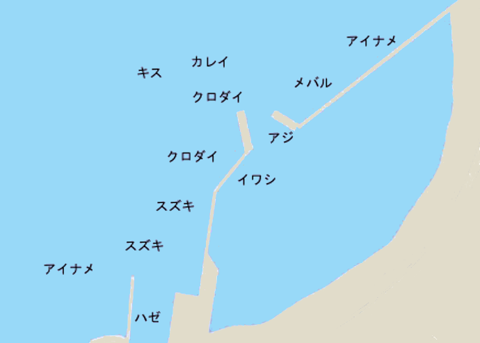 竹岡港ポイント図
