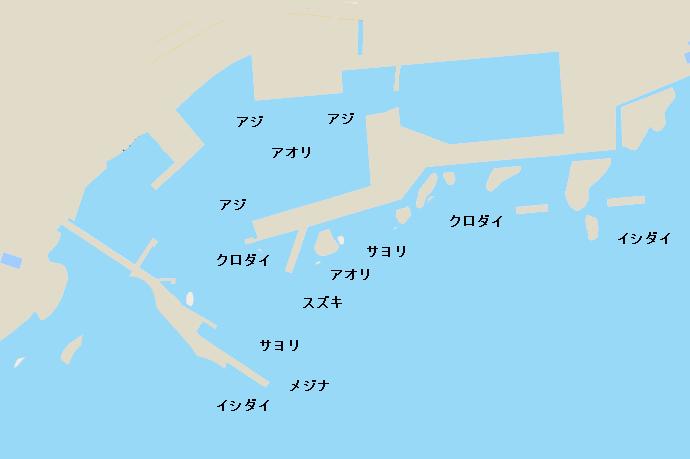 天津港ポイント図