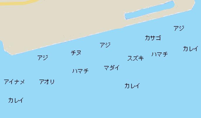 平磯海づり公園ポイント図