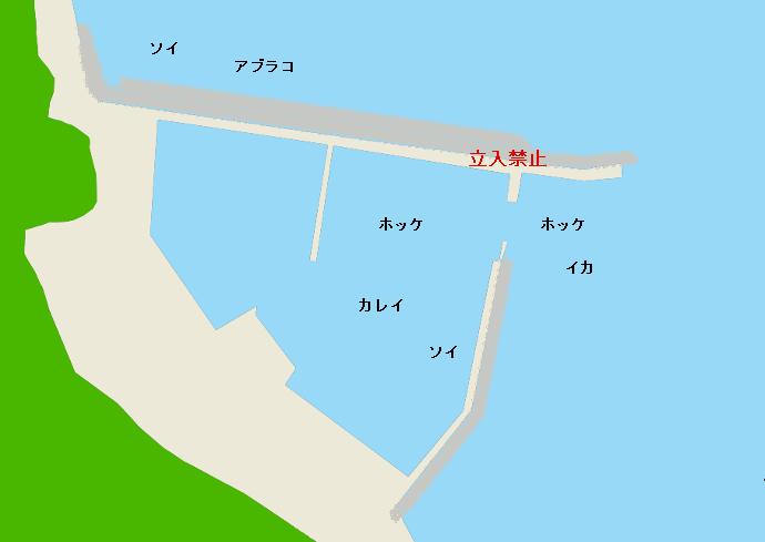 幌武意漁港ポイント図