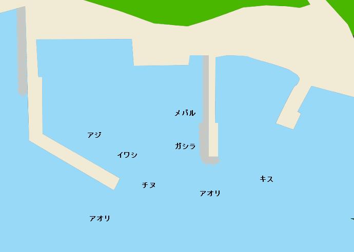 方杭漁港ポイント図