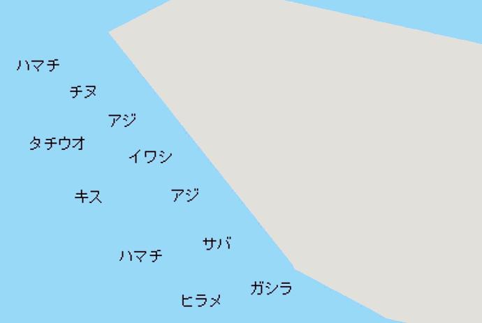 和歌山北港釣公園ポイント図
