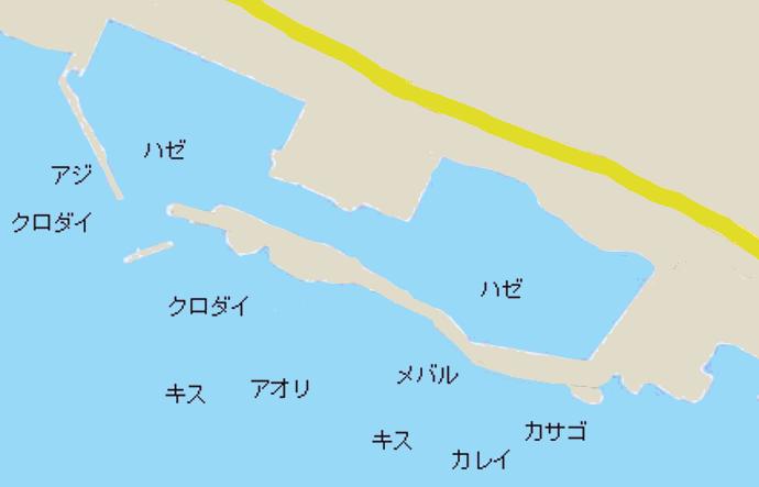 中州漁港ポイント図