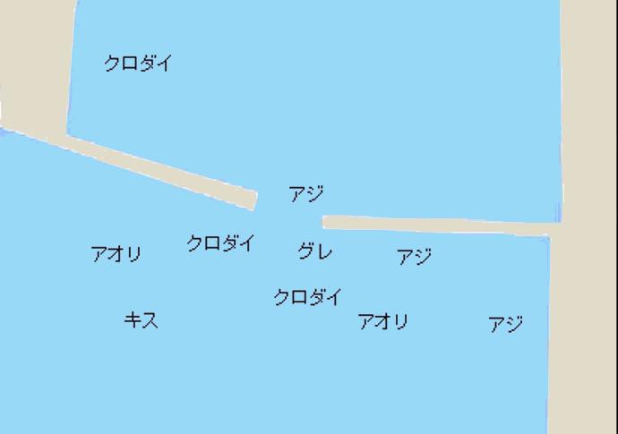 奈屋浦漁港ポイント図