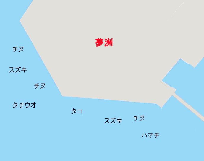 大阪北港夢洲ポイント図