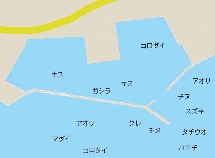 堺漁港ポイント図