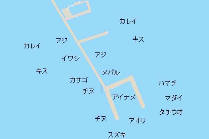 須磨海づり公園ポイント図