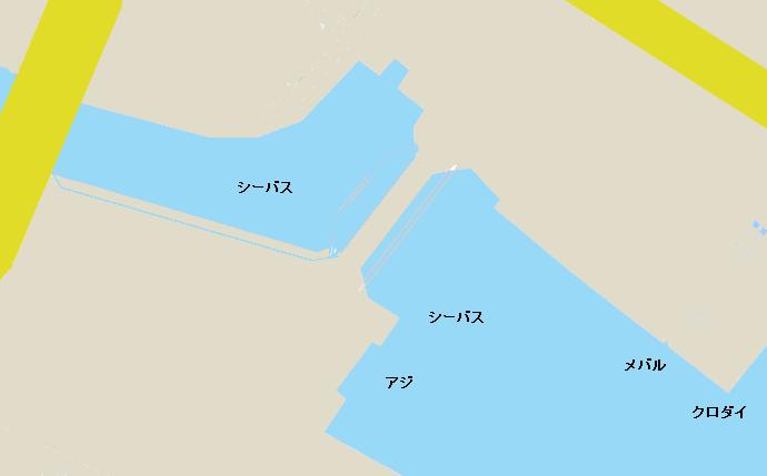 富洲原港ポイント図