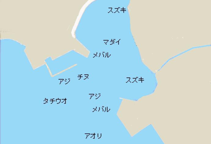 日出港ポイント図