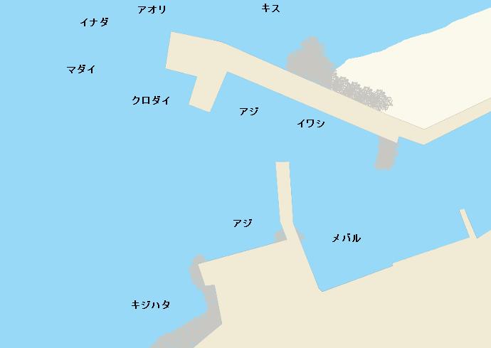 市振漁港ポイント図