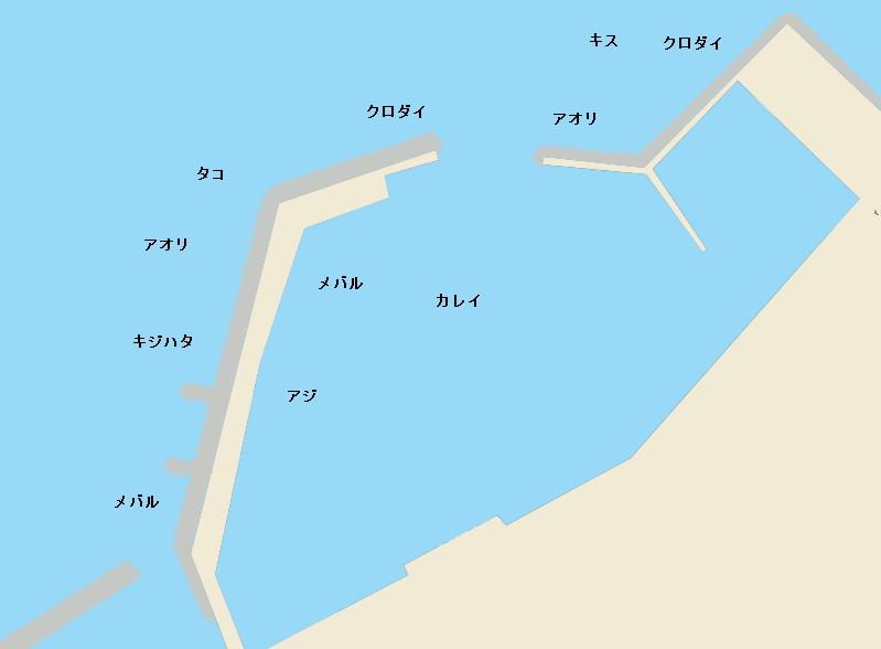 出雲崎漁港ポイント図