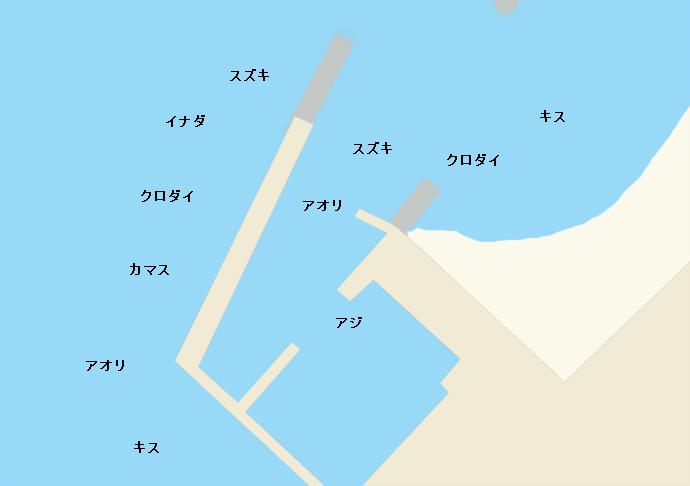 柿崎港ポイント図