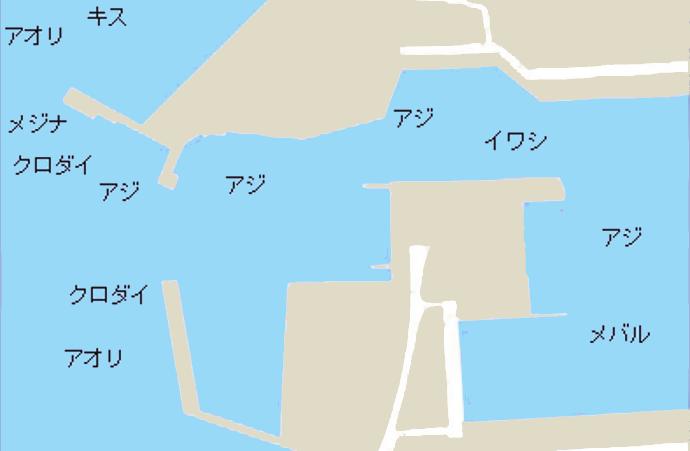 滑川漁港ポイント図