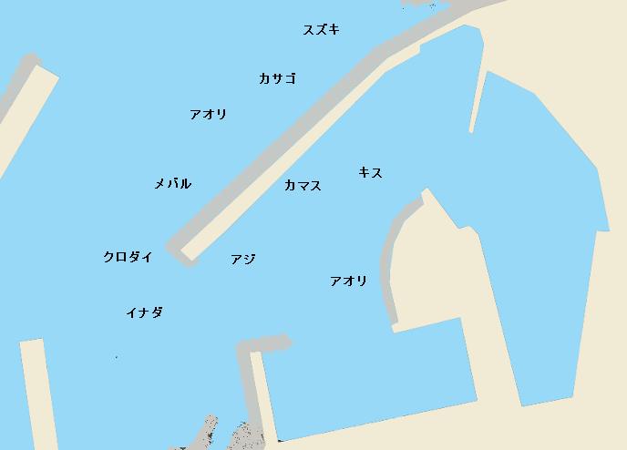 寝屋漁港ポイント図