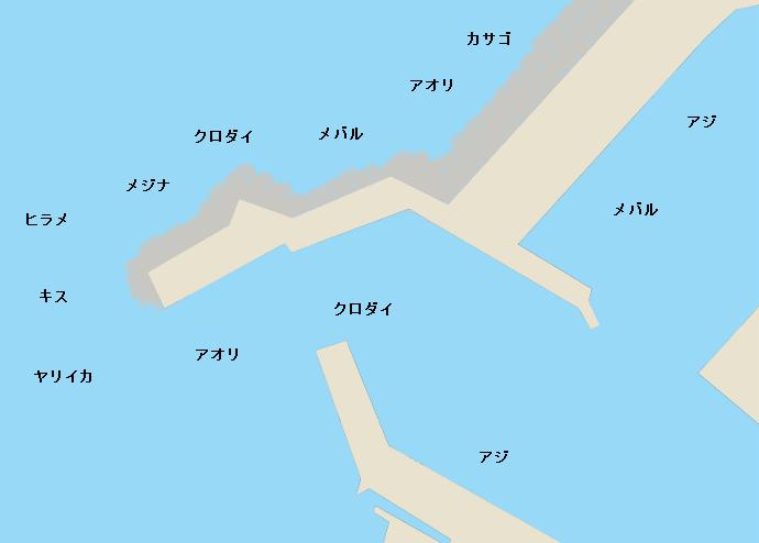 入善漁港ポイント図