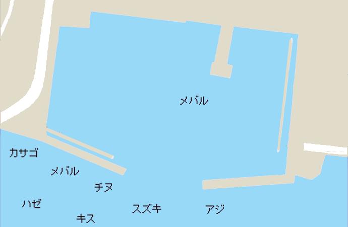 小方港ポイント図
