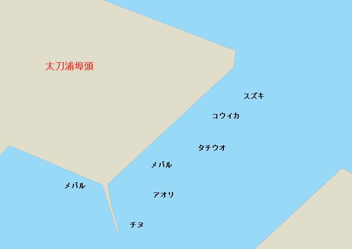 太刀浦海岸ポイント図